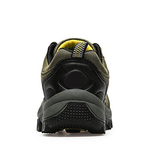 Paragon Scarpe da Trekking Uomo Impermeabili Scarpe da Escursionismo Scarpe da corsa Stivali 01 Verde