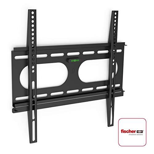 Hama TV-Wandhalterung Ultraslim Fernseher von (32-56 Zoll) (81 cm bis 142 cm Bildschirmdiagonale), inkl. Fischer Dübel, VESA bis 400 x 400, Wandabstand nur 2,5 cm, max. 50 kg) schwarz