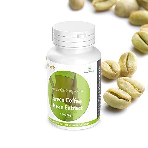 Green Coffee Bean Abnehm Booster: HOCHDOSIERT jetzt mit 6000mg - 180 Kapseln reicht für ca. 3 Monate - NEU! Abnehmen und Stoofwechsel steigern. Garantiert Glutenfrei
