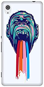 The Racoon Grip printed designer hard back mobile phone case cover for Sony Xperia M4 Aqua. (Tripping C)