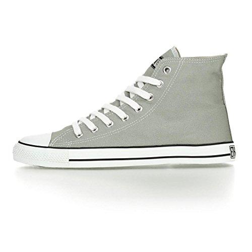 Ethletic Sneaker HiCut / High-Sneaker aus Bio-Baumwolle – urban grey / white – nachhaltig & fair - 3