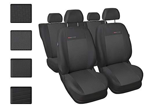 Sitzbezüge Auto universal Set Autositzbezüge Schonbezüge Dunkelgrau-Grau Vordersitze und Rücksitze mit Airbag System - P3