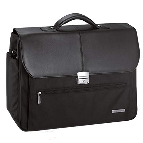 d&n-Lederwaren D&N - Aktentasche - Laptopfach - iPad-Fach - Organizer - 45 x 35 x 13 cm - schwarz