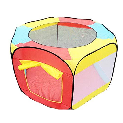 Yhjklm-HE Kinder Farbe Ocean Ball Pool Spiel Toy House drinnen oder draußen und Spiel Zelt (Farbe : Rot)