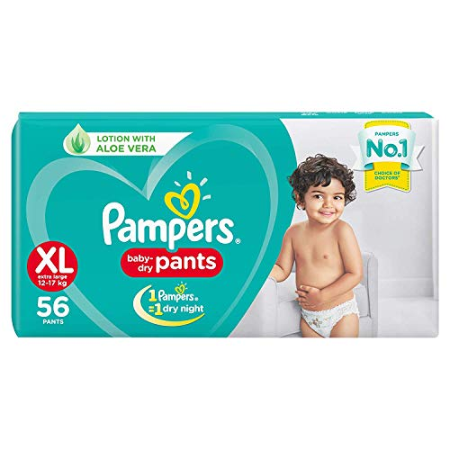Pampers New Diapers Pants, XL (56 Count)