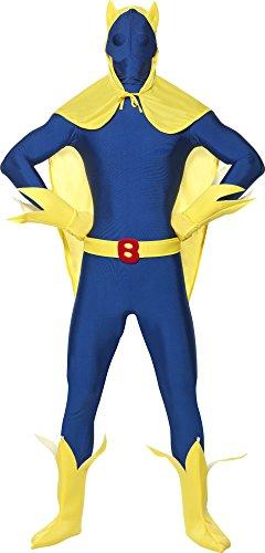 Bananaman Ganzkörperanzug Herren Second Skin Herrenkostüm Zweite Haut, Größe:L (Smiffys Bananaman Kostüm)