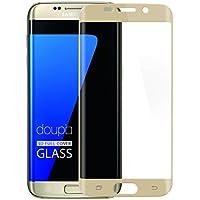 Samsung Galaxy S7 Edge Pellicola Protettiva, doupi 3D FullCover Premium 9H vetro temperato HD protezione dello schermo Touch Screen Protector Tempered Glass, oro