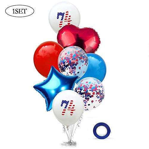 pendence Day Dekorationen Luftballons Juli 4. Jahrestag Patriotic Sequin Ballon für Indoor Outdoor-Dekor ()