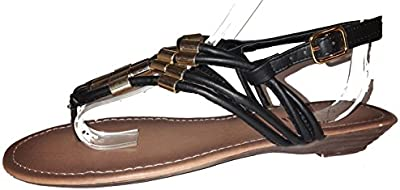 Chanclas para mujer, flip flop, sandalias para mujer, beige, marrón, blanco, azul, rojo, negro-oro, rosa-rojo y color del leopardo, modello 11064105006001, diferentes modelos y tamaños.