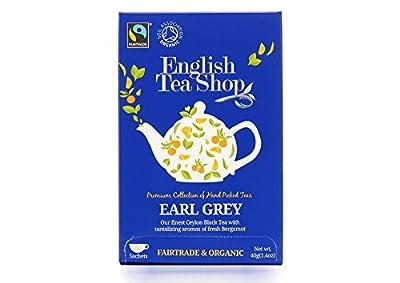 English Tea Shop Thé Noir Earl Grey Bio 20 Sachets 0.12 kg - Lot de 3