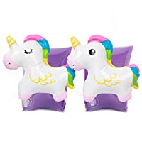 SEALEN Inflatable Unicorn Arm Bands, Swimming Aid Boat Children Floating Sleeves, Swim Circle Armbands Pool Toy for Kids Baby Toddlers Infants