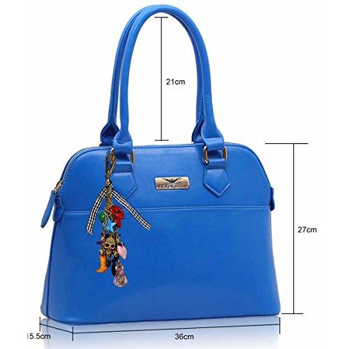 xardi Londres femmes Boutique Étui à rabat pour sac à main femme en imitation cuir sac bandoulière sac charme Bleu - bleu