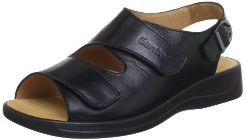 Ganter 5-202511-01000, Sandales femme Noir (Schwarz 0100)