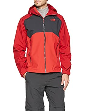 The North Face M Stratos Jacket Chaqueta, Hombre, Rojo/Asfalto, XL