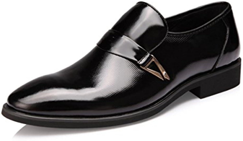 LYZGF Männer Gentleman Business Mode Lederschuhe Formelle Kleidung Spitz