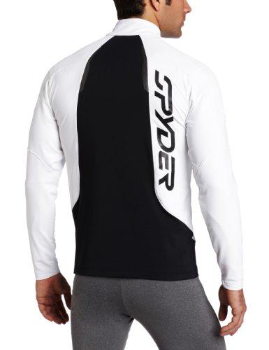 Spyder Herren Commander Dry W.E.B. Hohe Gewicht T Hals Shirt weiß / schwarz