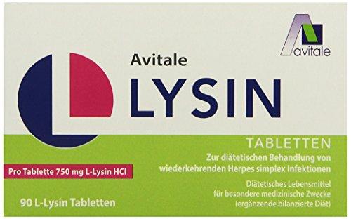 Avitale L-Lysin 750 mg Tabletten, 90 Stück, 1er Pack