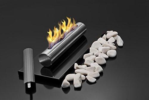 *Tisch Bio- und Ethanol-Kamin aus Edelstahl Bio-Ethanolkamin glanz schwarz*