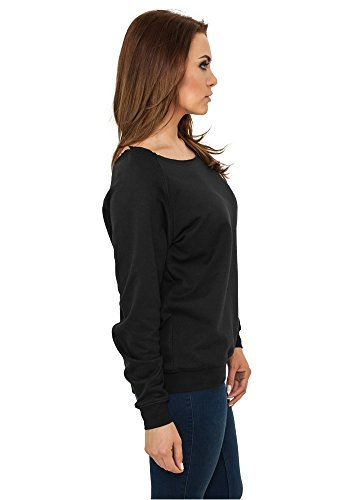 Urban Classics Ladies Open Edge Crewneck Grey Black