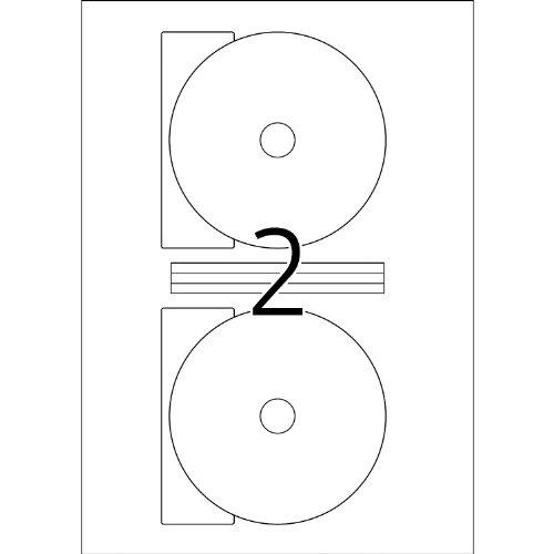 Herma 8624 CD-Etiketten Maxi (A4 Ø116 mm Papier matt, blickdicht) 20 Stück weiß