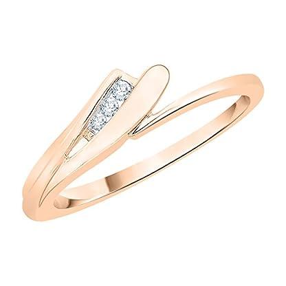 KATARINA 10KT Rose Gold and diamond Ring for Women