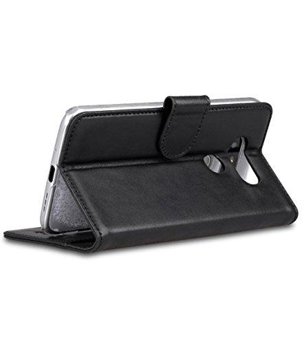 Melkco Premium Leather Case für Apple iPhone 6 11,3 cm (4,7 Zoll) Wallet Buch Typ schwarz Traditionelle Weinlese -Schwarz