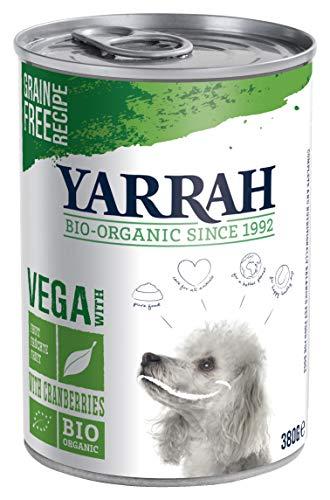 YARRAH Bio Hundefutter Vega, Getreidefrei mit Cranberries 380 g, 12er Pack (12 x 380 g)