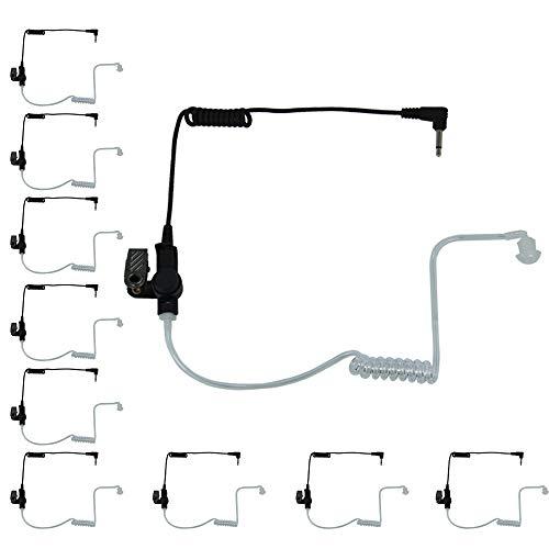 MaximalPower 3,5mm Empfänger/hören Nur Überwachung Headset Ohrhörer klaren Akustik Coil Tube Kopfhörer Audio Kit Zweiwege-Radios, Transceiver Radio Lautsprecher Mikrofone Buben, 42 inch, 10Stück