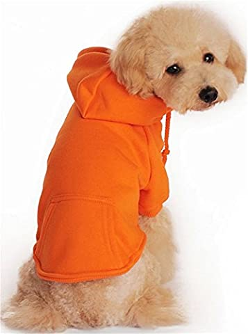 YAAGLE Pet Casual Warm Sweater Sport Hoodie Sweatshirt Clothing Apparel with Pocket for Dog Puppy Cat