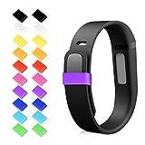 kwmobile 20in1:20x Chiusura di silicone per Fitbit Flex in multicolore - Bracciale sostituibile da...