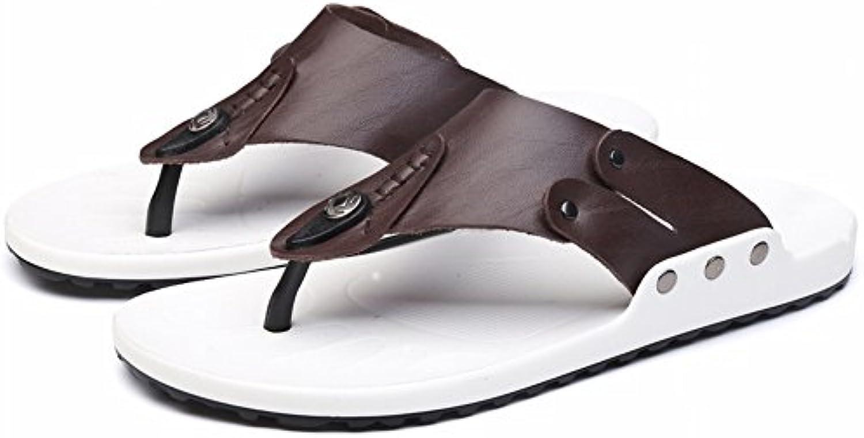 YTTY Flip Flop Männlichen Mode Trend Leder Coole Hausschuhe Männlichen Sandalen