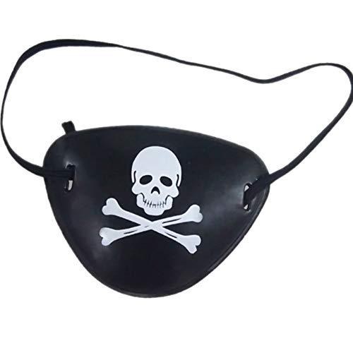 Kostüm Singles - Snner Plastic Piraten-Augen-Flecke-Halloween-Maskerade-Augen-Schablonen-Schädel-Muster-Single-Augen-Flecken-Partei-Kostüm-Zubehör