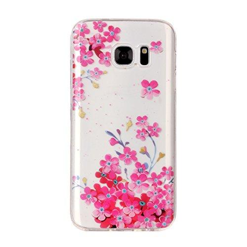 Hülle Galaxy S7, Asnlove Neue Modelle Crystal Case Handy Schutzhülle TPU Silikon Transparent Schutz Handy Hülle Case Tasche Etui Bumper für Samsung Galaxy S7 G930, Lace Color-3
