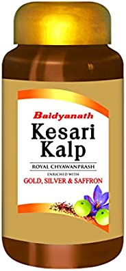 Baidyanath Kesari Kalp Royal Chyawanprash - Enriched with Gold, Silver and Saffron - 500g