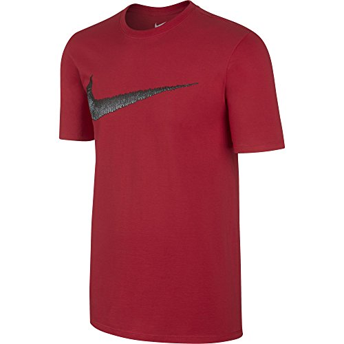 Nike–Pantaloni sportivi m Nsw, Hangtag Swoosh tee University Rosso/Anthracite