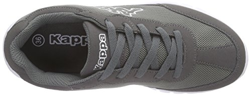 Kappa Rocket Footwear Unisex, Mesh/Synthetic, Baskets Basses mixte adulte Gris (Anthra/white)