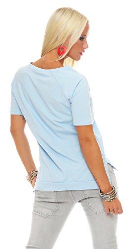 AE - Chemisier - Tunique - Femme bleu ciel