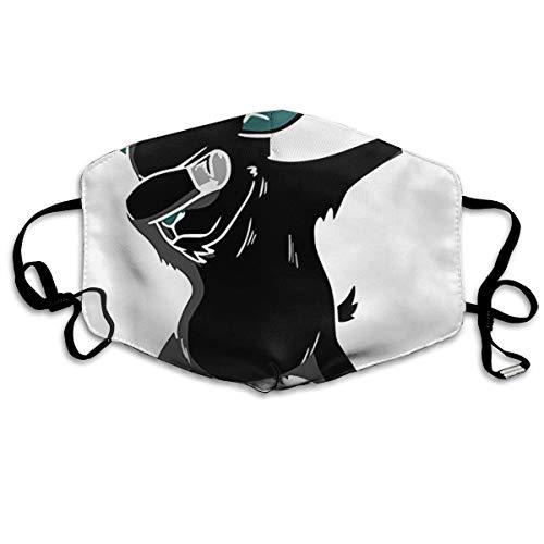 Hip Hop Dabbing Dab Dance Black Goat Anti-Dust Earloop Mundmaske für Frauen Herren Anti Grippe Pollen Keime Malerei Kaomoji Halbgesichtsmaske - elastisches Band hypoallergen - Olay Bänder