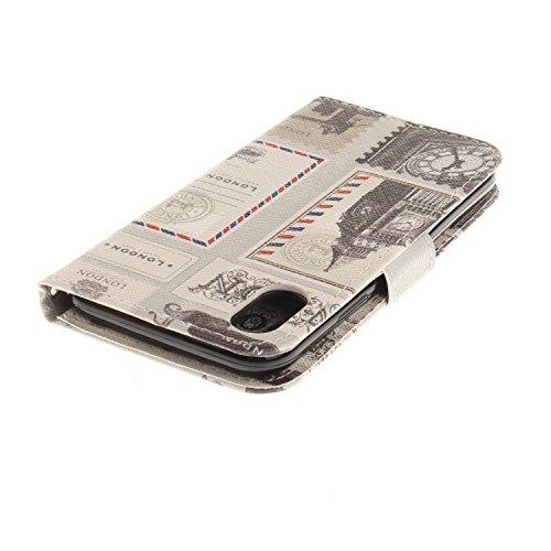 Coque pour iPhone 8, Frlife | Housse en Cuir PU pour iPhone 8 Coque avec Étui en Silicone, Protection Complète pour Votre Téléphone Portable color4
