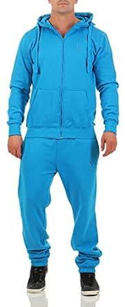 9T5 Jogginganzug Herren Jogger Trainingsanzug Sportanzug Suit 2-teilig blau S