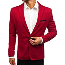 newest 64e13 7df83 giacca rossa elegante uomo - 2 stelle e più - Amazon.it