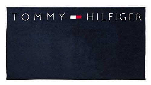 tommy-hilfiger-logo-towel-blue-100-x-180
