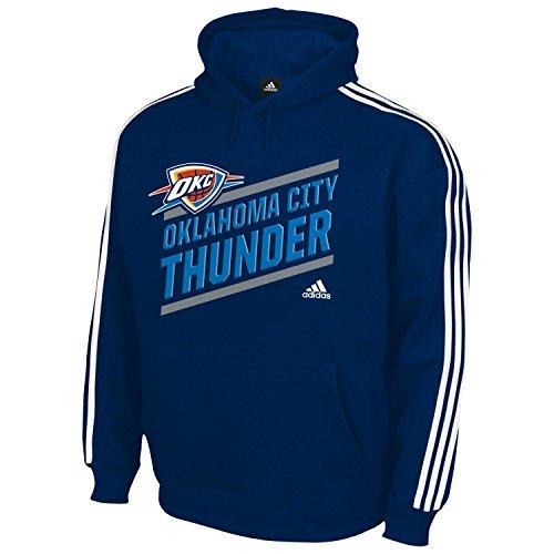 "Oklahoma City Thunder Youth Bambini Adidas NBA ""Playbook Stripe"" Hooded SweathShirt Camicia"