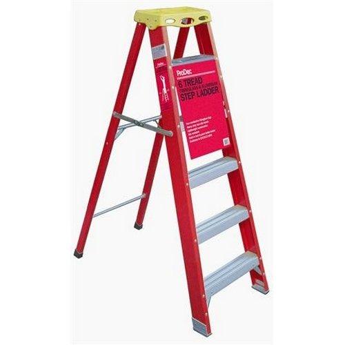 Prodec Fibreglass and Aluminium Step Ladders 6 Tread by ProDec - Step Ladder 6 Tread