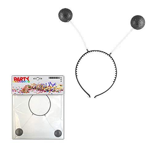 Kostüm Girl Ball Disco - PARTY DISCOUNT ® Haarreif Discokugel, schwarz