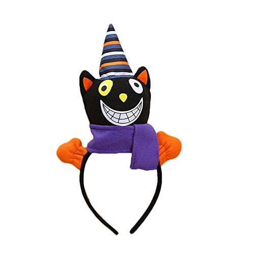 Newin Star 1 Stück Schwarze Katze Stirnband Kinder Geschenk für Halloween Make-up Show Party Dekoration (Kinder Für Katze Halloween-make-up)