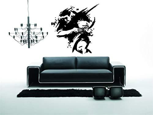 wandaufkleber 3d Rugby Fußball Rugby League Footy Team Sport Aufkleber Wandkunst Dekor für Wohnzimmer Schlafzimmer -