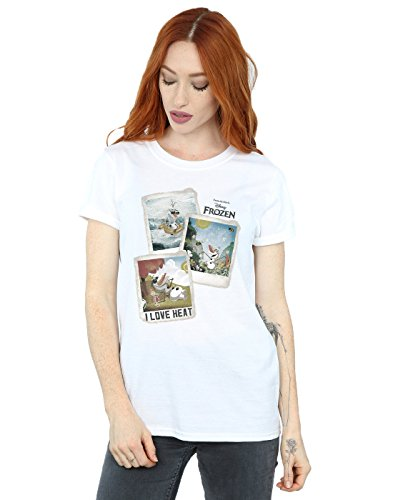 c92e131d8d5807 Disney Women's Frozen Olaf Polaroid Boyfriend Fit T-Shirt Small White - Buy  Online in Oman.   Apparel Products in Oman - See Prices, Reviews and Free  ...