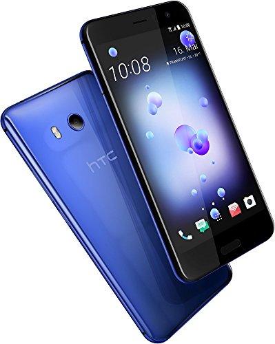 HTC U11 Smartphone (13,97cm (5,5 Zoll), 16 MP Frontkamera, 64GB Speicher, Android) Sapphire Blue, mit Amazon Alexa