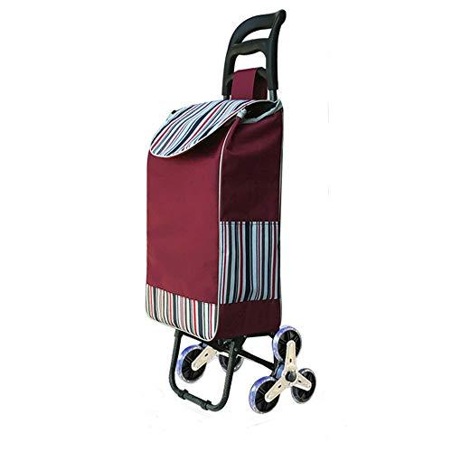 LULIN Carrello della Spesa Portatile per Anziani, acquisti a Domicilio, Carrello Piccolo, Carrello Pieghevole, Carrello portabagagli, cas